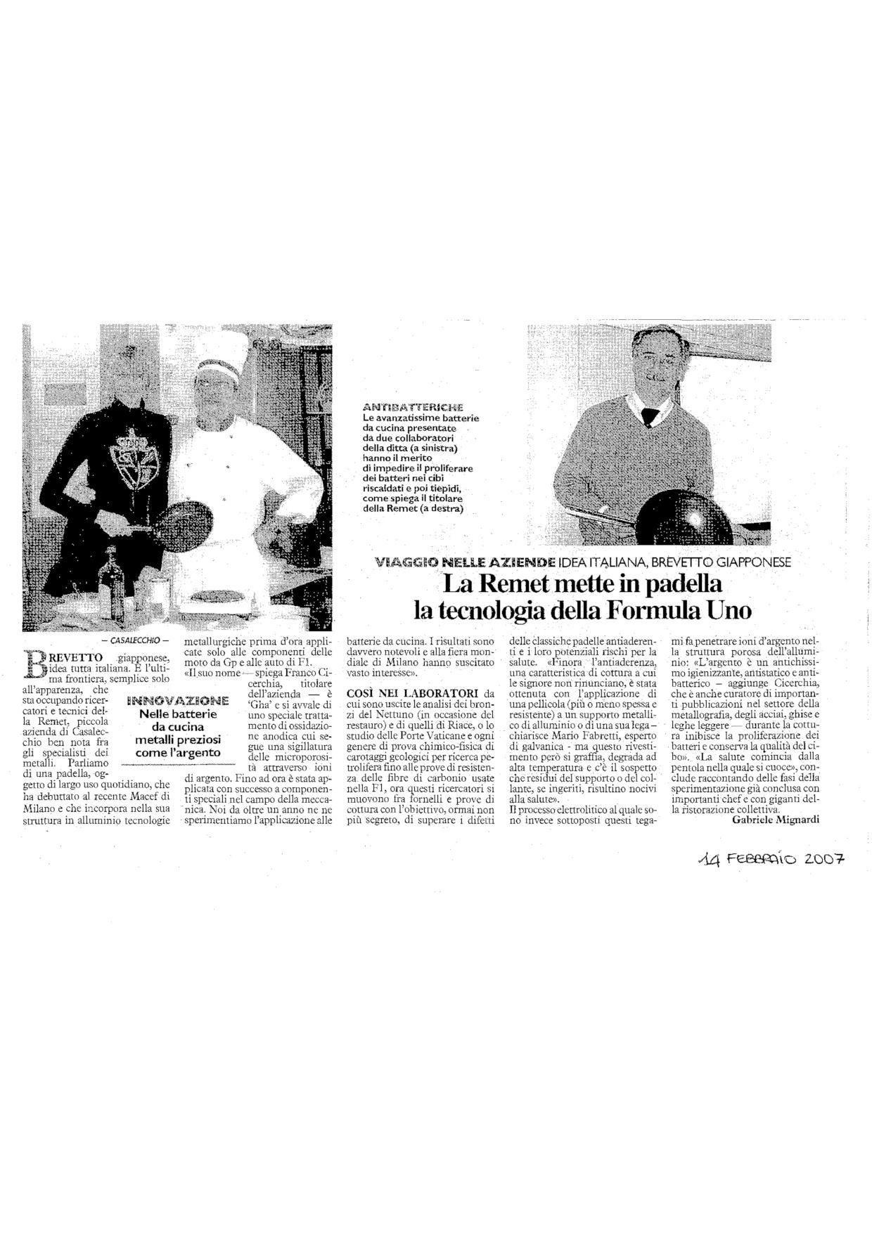 Articolo Resto Carlino 2007